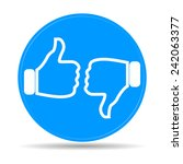 thumb up icon  flat design.  | Shutterstock . vector #242063377