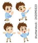 behavior of young man  | Shutterstock .eps vector #242090323