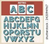 retro vector latin type  font   ... | Shutterstock .eps vector #242094967