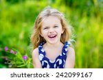 fanny and beautiful laughing... | Shutterstock . vector #242099167