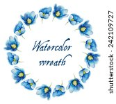 Watercolor Flowers Frame.vecto...