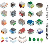 various building   solid figure | Shutterstock .eps vector #242114917