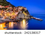 night view of manarola  one of... | Shutterstock . vector #242138317