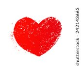 grunge heart | Shutterstock . vector #242143663