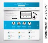blue modern clean website... | Shutterstock .eps vector #242172697