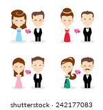 wedding couples  decorative... | Shutterstock .eps vector #242177083