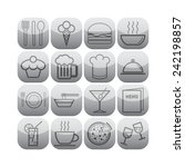 set of simple icons for bar ... | Shutterstock .eps vector #242198857