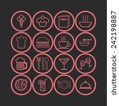 set of simple icons for bar ... | Shutterstock .eps vector #242198887