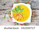 chicken curry thai food. | Shutterstock . vector #242203717