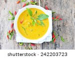chicken curry thai food. | Shutterstock . vector #242203723