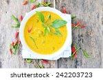chicken curry thai food. | Shutterstock . vector #242203723