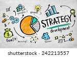 strategy development goal... | Shutterstock . vector #242213557