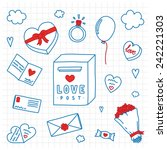 hand drawn valentines day... | Shutterstock .eps vector #242221303