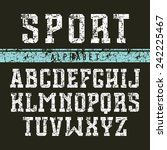 serif font in the retro style... | Shutterstock .eps vector #242225467