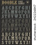 doodle vector font family 10 on ... | Shutterstock .eps vector #242226847