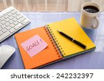 goals word on note pad stick on ... | Shutterstock . vector #242232397