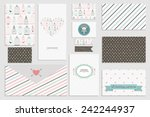 vintage collection of vector... | Shutterstock .eps vector #242244937