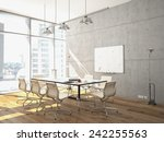 conference room interior with a ... | Shutterstock . vector #242255563