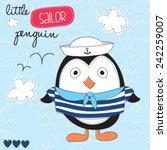 little sailor penguin vector... | Shutterstock .eps vector #242259007