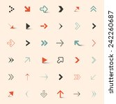 simple vector arrows set | Shutterstock .eps vector #242260687