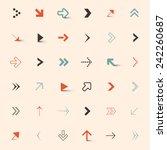 Simple Vector Arrows Set   Shutterstock vector #242260687