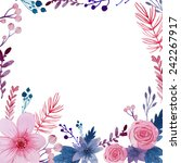 Watercolor Floral Background....