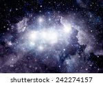 stars of a planet and galaxy in ... | Shutterstock . vector #242274157