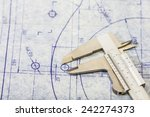 very detailed mechanical... | Shutterstock . vector #242274373