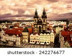 view of the tyn church in... | Shutterstock . vector #242276677