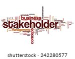 stakeholder word cloud concept... | Shutterstock . vector #242280577