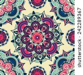 ethnic floral seamless pattern. ... | Shutterstock .eps vector #242289367