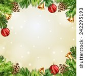 christmas illustration with... | Shutterstock . vector #242295193