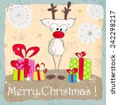 cute hand drawn style christmas ... | Shutterstock . vector #242298217