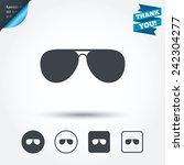 aviator sunglasses sign icon....   Shutterstock .eps vector #242304277