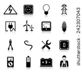 electricity icons set with...   Shutterstock .eps vector #242307043