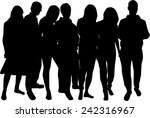 group of people  | Shutterstock .eps vector #242316967