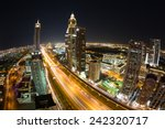 dubai by night and metro... | Shutterstock . vector #242320717