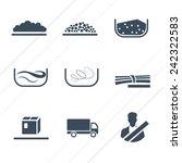 different types of cargo  ...   Shutterstock .eps vector #242322583