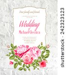 wedding card and engagement... | Shutterstock .eps vector #242323123