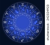 set of symbol zodiac sign.... | Shutterstock .eps vector #242324923