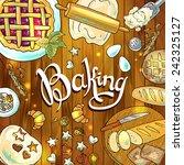 baking  beautiful hand draw... | Shutterstock .eps vector #242325127