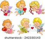 cute cupid with bow and arrows... | Shutterstock .eps vector #242330143