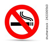 no smoking sign on a white...   Shutterstock . vector #242330563