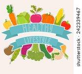 fresh vegetables  healthy... | Shutterstock .eps vector #242339467