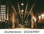 Chicago City Train Bridge In...