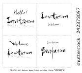 hand drawn greeting    vector   ... | Shutterstock .eps vector #242373097