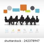 social business gathering   Shutterstock .eps vector #242378947