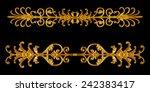 ornament elements  vintage gold ... | Shutterstock . vector #242383417