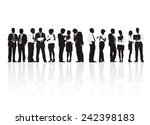 multi ethnic business people | Shutterstock .eps vector #242398183