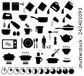 vector set icons cooking manual ... | Shutterstock .eps vector #242401093